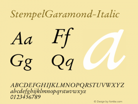 StempelGaramond-Italic