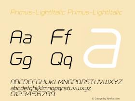 Primus-LightItalic