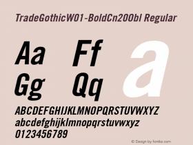 TradeGothic-BoldCn20Obl