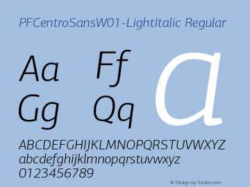 PFCentroSans-LightItalic