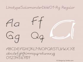 LinotypeSalamanderDb-Rg