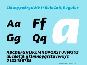 LinotypeErgo-BoldCnIt