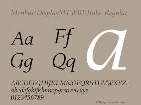 MenhartDisplayMT-Italic