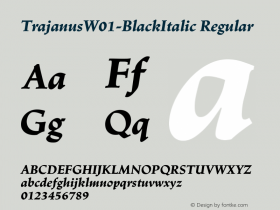 Trajanus-BlackItalic