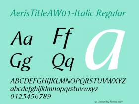 AerisTitleA-Italic