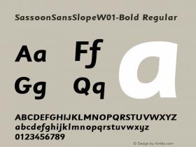 SassoonSansSlope-Bold