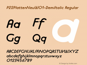 P22PlattenNeu-DemiItalic