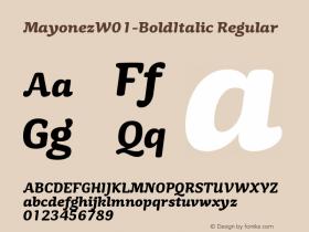 Mayonez-BoldItalic