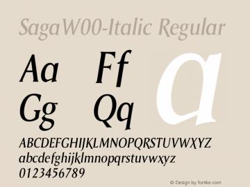 Saga-Italic