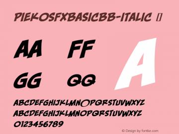PiekosFXBasicBB-Italic