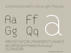 ExtremeSans-UltraLight