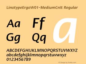 LinotypeErgo-MediumCnIt