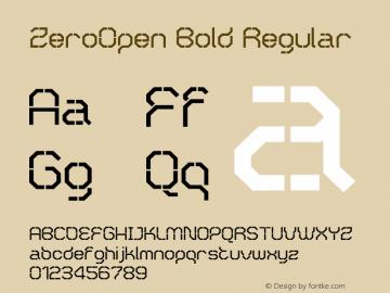 ZeroOpen Bold