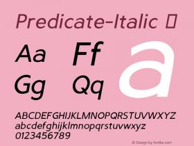 Predicate-Italic