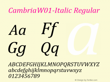 Cambria-Italic
