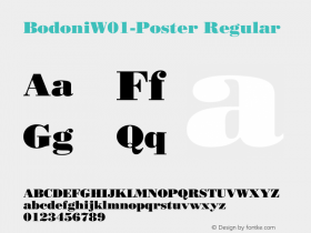 Bodoni-Poster