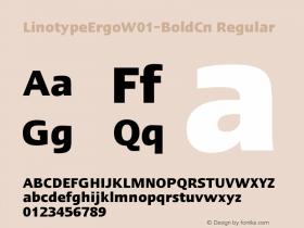 LinotypeErgo-BoldCn