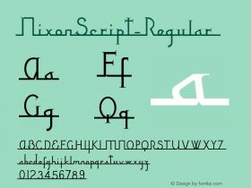 NixonScript-Regular