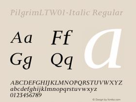 PilgrimLT-Italic