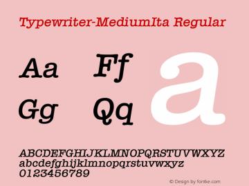 Typewriter-MediumIta