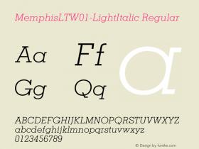 MemphisLT-LightItalic
