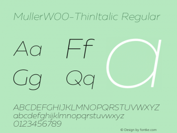 Muller-ThinItalic
