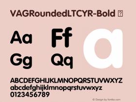 VAGRoundedLTCYR-Bold