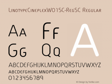 LinotypeCineplexSC-RegSC