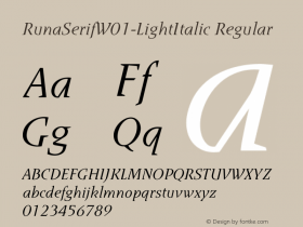 RunaSerif-LightItalic