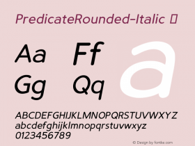PredicateRounded-Italic