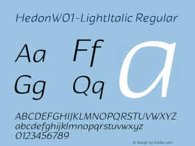 Hedon-LightItalic
