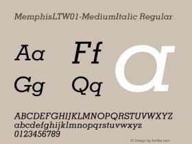 MemphisLT-MediumItalic