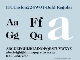 ITCCaslon224-Bold