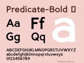 Predicate-Bold