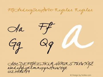 FGAudreyScript-Regular