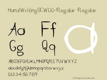 HandWritingOC-Regular