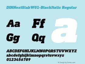 DINNextSlab-BlackItalic