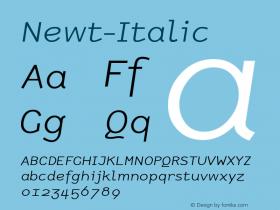 Newt-Italic