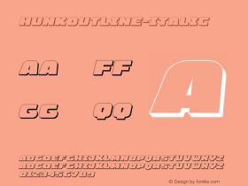 HunkOutline-Italic