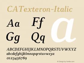 CATexteron-Italic