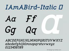 IAmABird-Italic