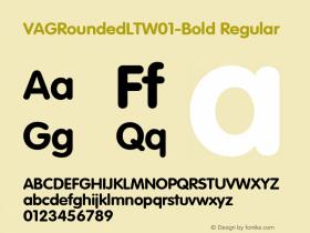 VAGRoundedLT-Bold