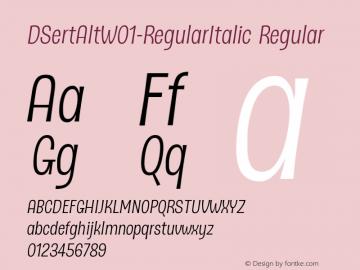 DSertAlt-RegularItalic
