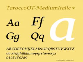 TaroccoOT-MediumItalic