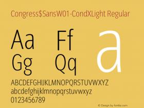Congress$Sans-CondXLight
