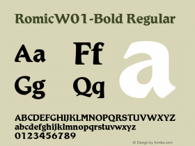 Romic-Bold