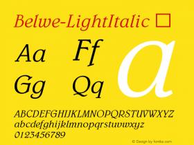 Belwe-LightItalic