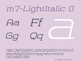 m7-LightItalic