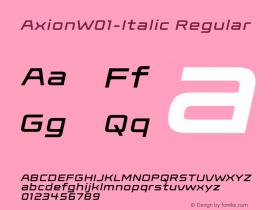 Axion-Italic