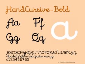 HandCursive-Bold